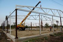 Восстановление геометрии металлоконструкций в Омске и усиление зданий г.Омск
